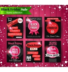 Black Friday Sale banners flyers collection vector