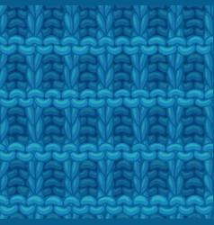 Blue hurdle stitch pattern vector