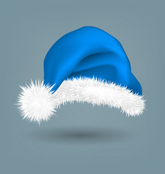 blue santa hat traditional costume winter vector image