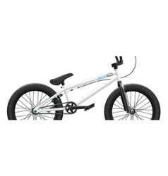 bmx bicycle mockup - right side close-up vector image