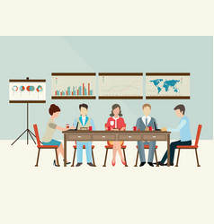 Business meeting brainstorming in flat style vector