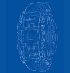 car brake disc outline vector image