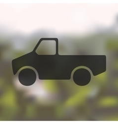 Car pickup icon on blurred background vector