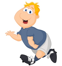 Cartoon big boy running vector image