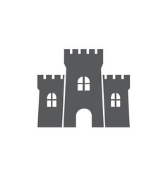 castle icon on white background vector image
