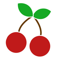 Cherry flat icon vector