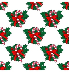 Christmas candy stick seamless pattern vector