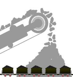 Coal industry 1 vector image