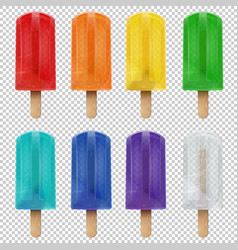 collection of realistic isolated colorful rainbow vector image