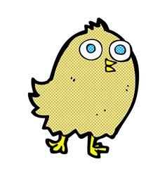 Comic cartoon happy bird vector