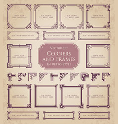 corners and frames in retro style vector image