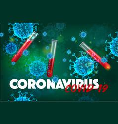 coronavirus test realistic background vector image