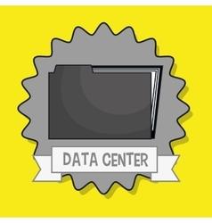 Data center file folder vector
