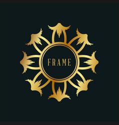 Design frame luxury vintage with golden color vector