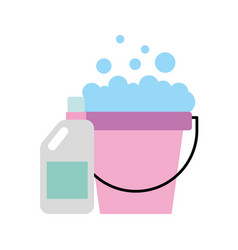 detergent bottle with pot vector image