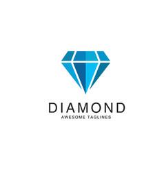 Diamond logo premium vector