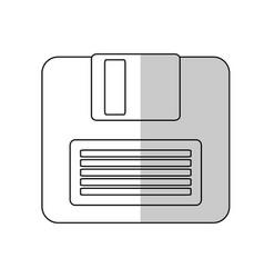 diskette icon image vector image