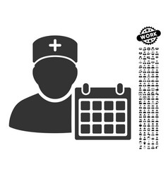 Doctor appointment icon with professional bonus vector