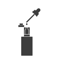 electronic cigarette with the filled liquid vector image