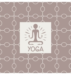 Enlightenment Yoga Studio Design Card vector