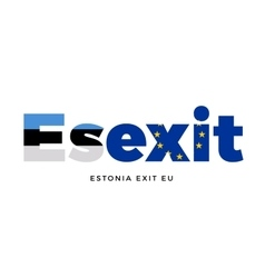 ESEXIT - Estonia exit from European Union on vector
