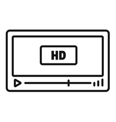 film hd playing icon outline style vector image
