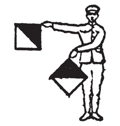 Flag signal for the letter h or the number 8 vector