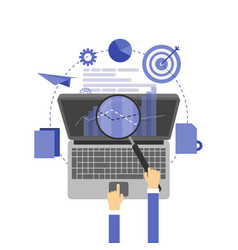 Flat background seo search engine optimization vector