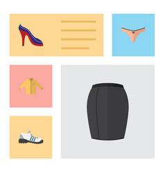 Flat icon clothes set of heeled shoe stylish vector
