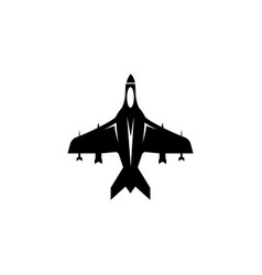 flying fighter jet war airplane air bomber flat vector image