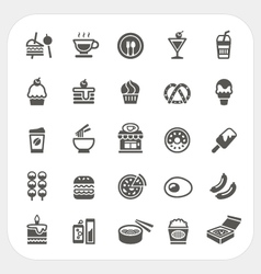 Food and Beverage icons set vector
