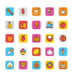 food icons 5 vector image