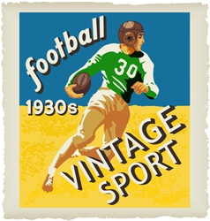 football vintage vector image
