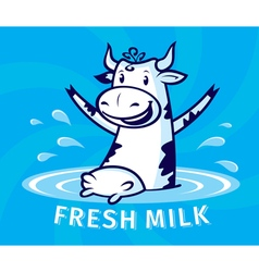 Fresh natural milk vector