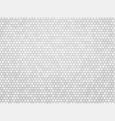 Gray metal hexagon background vector