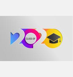 happy class 2020 graduation colour banner vector image