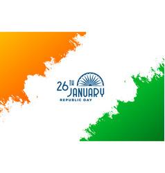 Happy republic day india 26th january vector