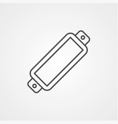 harmonica icon sign symbol vector image
