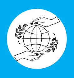 international peace day on vector image