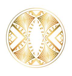 Isolated art deco circle design vector