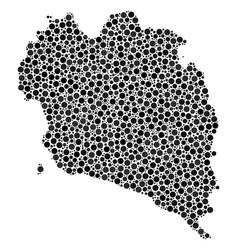 Koh phangan thai island map mosaic of spheres vector