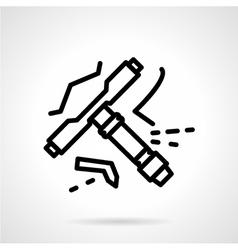Longboard tool line icon vector image