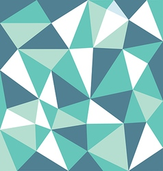 low polygon green tone vector image