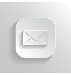 Mail icon - white app button vector