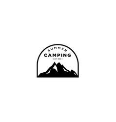 Mountain and outdoor adventures logo vector