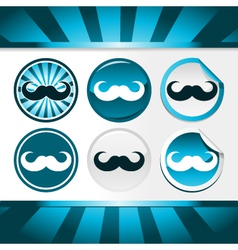 Movember Mustache Awareness Buttons vector