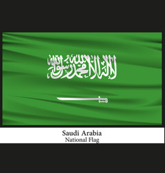 national flag of saudi arabia vector image