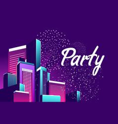 Night city party vector
