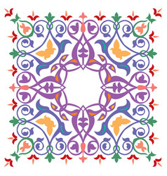 oriental ornament pattern colorful design vector image