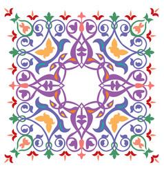 oriental ornament pattern colorful design vector image